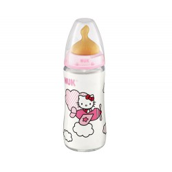 NUK BIBERON FC LATEX T1M 300 ML HELLO KITTY
