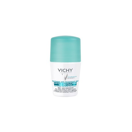 VICHY TRATAMIENTO ANTITRASPIRANTE  ANTIMANCHAS 48 HORAS ROLL-ON 50 ML