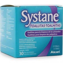 SYSTANE TOALLITAS HÚMEDAS ESTÉRILES LIMPIEZA 30 TOALLITAS