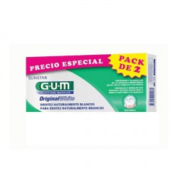 GUM ORIGINAL WHITE PASTA DENTAL 2X75ML