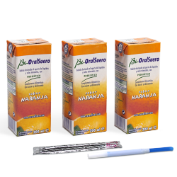 BIORALSUERO PACK 3X200 ML BRICK NARANJA