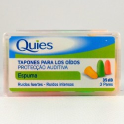 QUIES TAPONES OÍDO ESPUMA-GOMA COLOR 6U