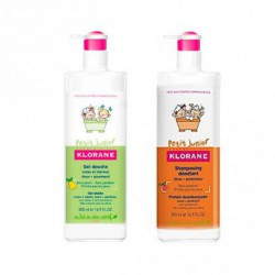 KLORANE PACK CHAMPÚ + GEL  JUNIOR 500+500ML