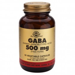 SOLGAR GABA 500 MG 50 CAPS