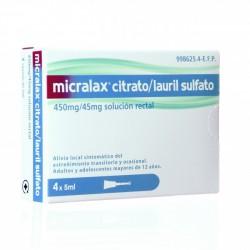 MICRALAX 4 CANULETAS 5 CC