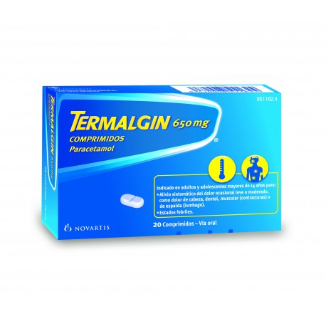 TERMALGIN 500MG  20 COMP
