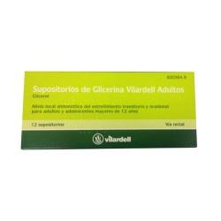 SUPOSITORIOS GLICERINA VILARDELL ADULTOS 12 SUPO