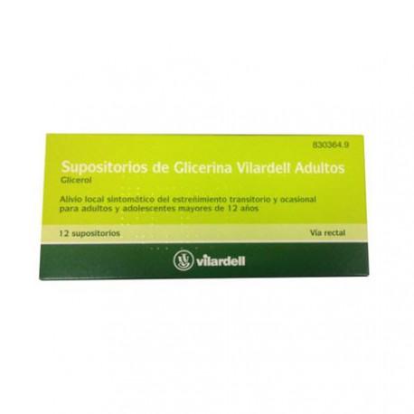 SUPO GLICERINA VILARDELL ADUL 12 SUPOSITORIOS