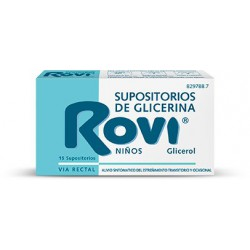 SUPOSITORIOS ROVI INF 15 SUP