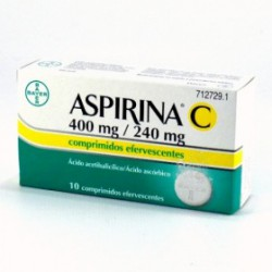 ASPIRINA C EFERVESCENTE 10 COMP