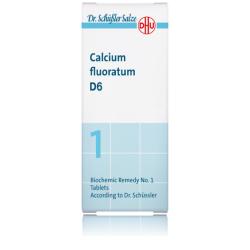 DHU SALES DE SCHUSSLER Nº1 CALCIUM FLUORATUM D6 80 COMPRIMIDOS