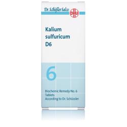 DHU SALES DE SCHUSSLER Nº6 KALIUM SULFURICUM D6 80 COMPRIMIDOS