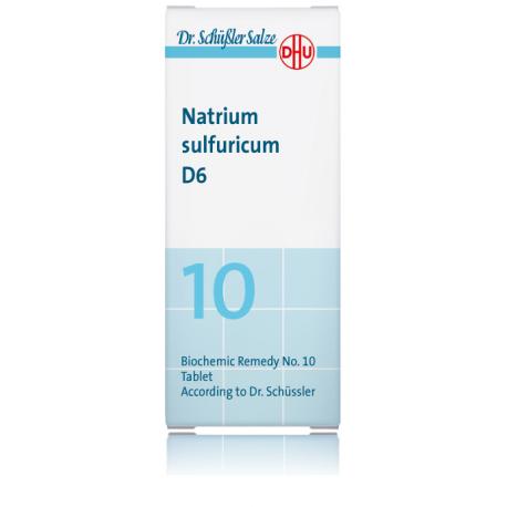 DHU SALES DE SCHUSSLER Nº10 NATRIUM SULFURICUM D6 80 COMPRIMIDOS