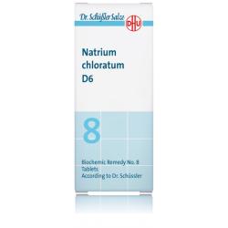 DHU SALES DE SCHUSSLER Nº8 NATRIUM CHLORATUM D6 80 COMPRIMIDOS
