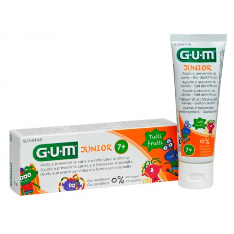 GUM JUNIOR GEL DENTÍFRICO TUTTI-FRUTTI 50 ML