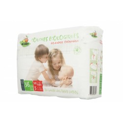 PAÑAL BIOBABBY BIODEGRADABLE T3 (4-9 KG) 36 UNIDADES