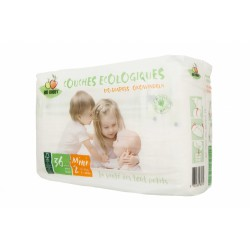 PAÑAL BIOBABBY BIODEGRADABLE T2 (3-6 KG) 36 UNIDADES