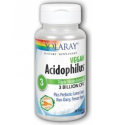 SOLARAY ACIDOPHILUS VEGAN 30 CAPSULAS