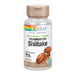 SOLARAY FERMENTED SHIITAKE 500MG  60 CAPS
