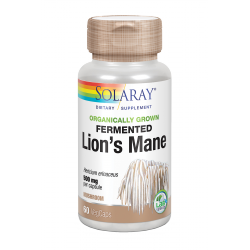 SOLARAY FERMENTED LION´S MANE  (MELENA DE LEÓN) 500 MG 60 CAPS