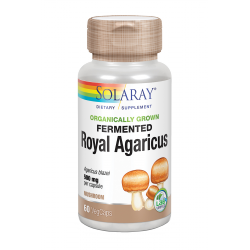 SOLARAY FERMENTED ROYAL AGARICUS (CHAMPIÑÓN DEL SOL) 500MG 60 CAPS