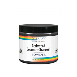 SOLARAY ACTIVATED COCONUT CHARCOAL POLVO 75GR