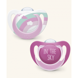 NUK CHUPETE ANATOMICO SILICONA TRAVEL IN THE AIR 6-18 MESES 2U