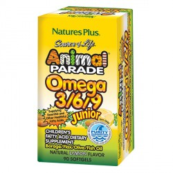 NATURES PLUS ANIMAL PARADE OMEGA 3/6/9 90 PERLAS SABOR LIMÓN