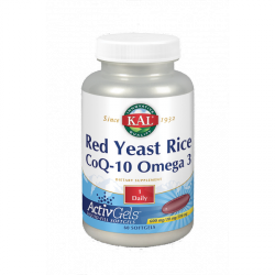 SOLARAY KAL RED YEAST RICE COQ-10 OMEGA-3 60 CÁPSULAS