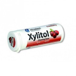 MIRADENT CHICLES XYLITOL ARANDANO-CRANBERRY 30 UDS