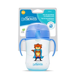TAZA EDUCATIVA DR BROWN'S NATURAL FLOW +9M 270ML