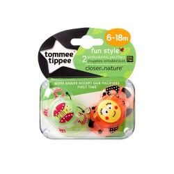 TOMMEE TIPPEE CHUPETE FUN STYLE 6-18MESES 2 UDS