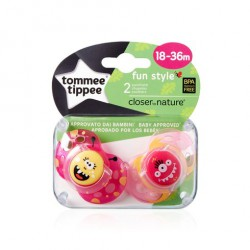 TOMMEE TIPPEE CHUPETE FUN STYLE NIÑA 18-36MESES 2 UDS