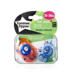 TOMMEE TIPPEE CHUPETE FUN STYLE NIÑO 18-36MESES 2 UDS