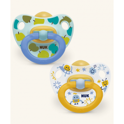 NUK CHUPETE HAPPY KIDS 0-6 MESES LATEX 2UDS