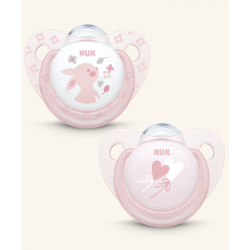 NUK CHUPETE ROSE & BLUE SILICONA 0-6 MESES COLOR ROSA 2 UDS