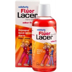 LACER 0,05% FLUOR COLUTORIO JUNIOR SABOR FRESA 500ML