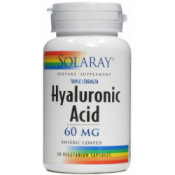 SOLARAY ÁCIDO HIALURONICO -  HYALURONIC ACID 60MG 30