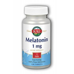 SOLARAY KAL MELATONINA 1MG 120 COMPRIMIDOS