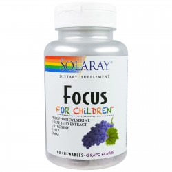 SOLARAY FOCUS FOR CHILDREN 60 COMPRIMIDOS MASTICABLES