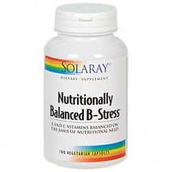 SOLARAY NUTRITIONALLY BALANCE B-STRESS 100 CAPSU