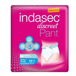 INDASEC DISCREET PANT PLUS TALLA MEDIA 14 UDS