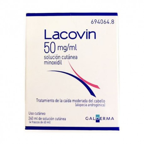 LACOVIN 50 MG/ML SOLUCION CUTANEA 4 FRASCOS 60ML