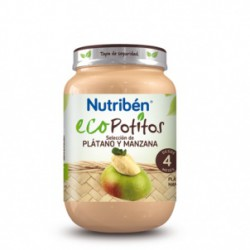NUTRIBEN ECO SELECCION PLATANO Y MANZANA POTITO JUNIOR 200 G