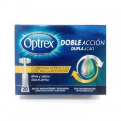 OPTREX DOBLE ACCION PICOR OJOS 20 MONODOSIS