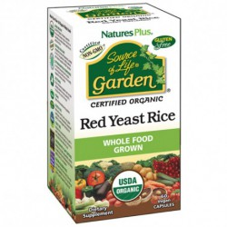 NATURE'S PLUS SOURCE OF LIFE GARDEN RED YEAST RICE - LEVADURA ROJA ARROZ 60 CAPSULAS