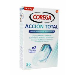 COREGA ACCION TOTAL LIMPIADOR LIMPIEZA PROTESIS 30 TABLETAS