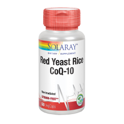 SOLARAY RED YEAST RICE PLUS Q10 60 CAPSULAS