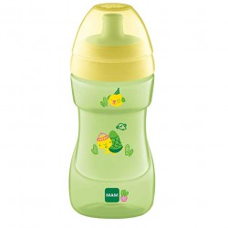 MAM SPORTS CUP VASO CON TAPON DEPORTIVO AMARILLO +12M 330ML
