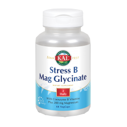 SOLARAY KAL STRESS B + MAG GLYCINATE 60 CAPSULAS